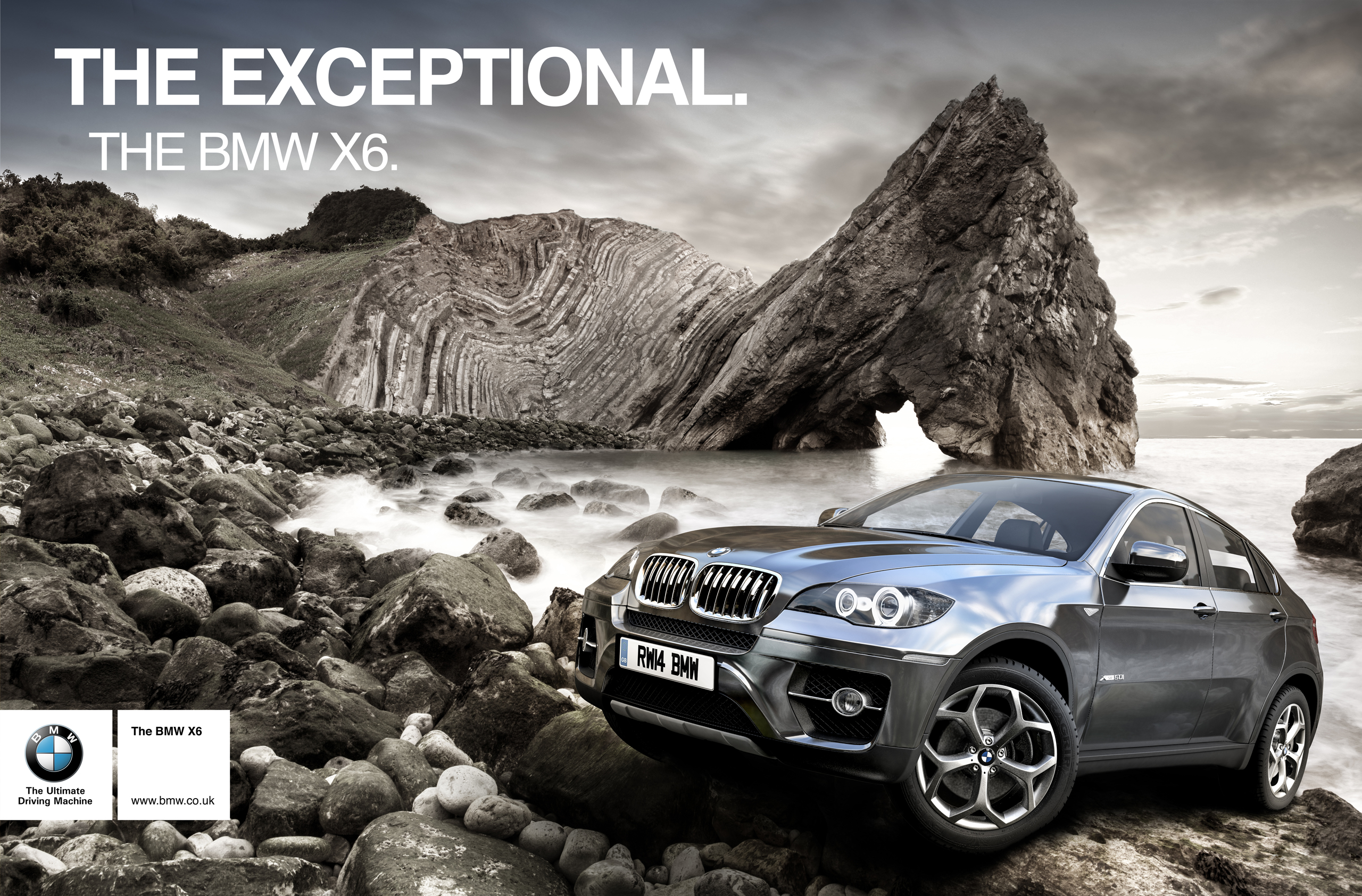 Bmw Advert Design Redwhite Cgi